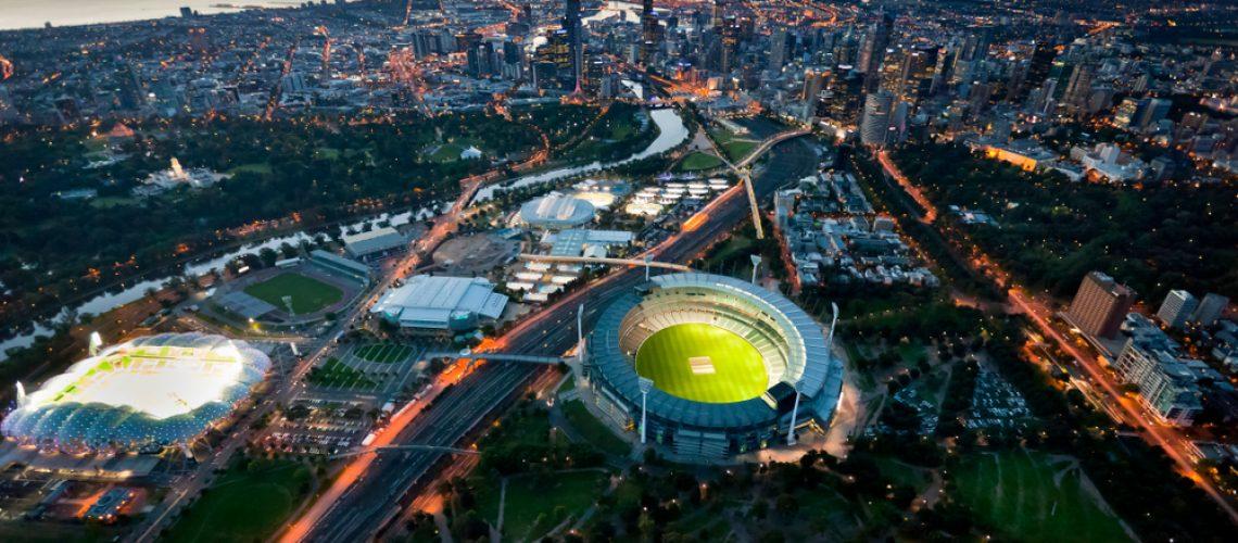 Melbourne,Aerial,Skyline